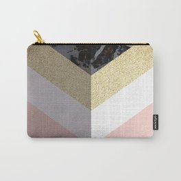 Chevron Pattern 1. Marble and Glitter #decor #buyart Carry-All Pouch