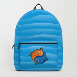 Yin Yang Fish Cartoon Backpack