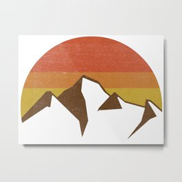 rocky mountains and fall sun Metal Print