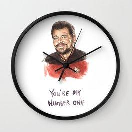 Riker Number One - Funny Trek Illustration Wall Clock