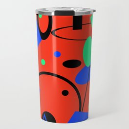 Retro abstract red print Travel Mug