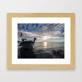 Sunset on the sea #1 Framed Art Print