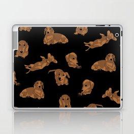 Short Haired Dachshund Pattern Laptop & iPad Skin