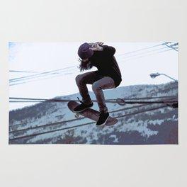 High Flying Skateboarder Rug