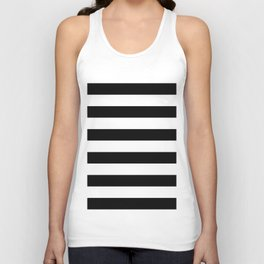 Black & White Stripes- Mix & Match with Simplicity of Life Unisex Tank Top
