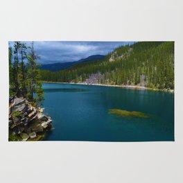 Horseshoe Lake in Jasper National Park, Canada Rug