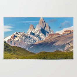 Lake and Andes Mountains, Patagonia - Argentina Rug
