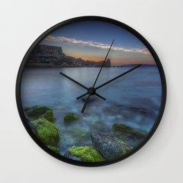 Sunset at Paradise Bay Malta Wall Clock