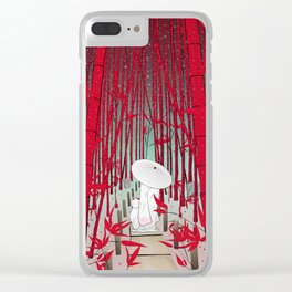 Yuki- onna Clear iPhone Case