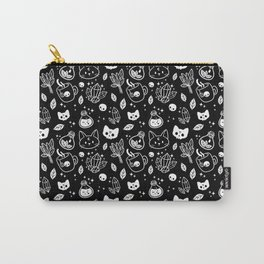 Herb Witch // Black & White Carry-All Pouch
