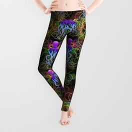 Octopus Psychedelic Luminescence Leggings