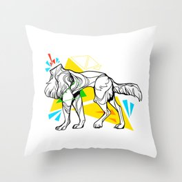 Primary dogs XVII: Don't lose your head! Throw Pillow