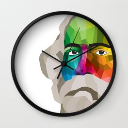 Rabindranath Tagore - popart portrait Wall Clock