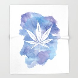One Love: Blue Throw Blanket