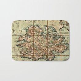 Map Of Antigua 1779 Bath Mat