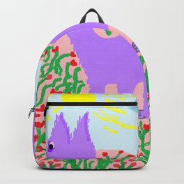 painting for kids-the mauve fox Backpack