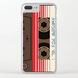 awesome mix vol 1 new hot 2018 CD love cute sticker cover iphone pattern casate art support design Clear iPhone Case