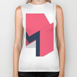 Letters M - geometric Biker Tank