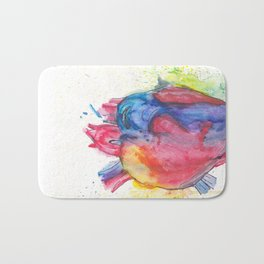 watercolour Heartbeats Bath Mat