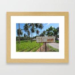 Thailand - Paradise for sale Framed Art Print