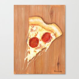 Pizza-Heart Canvas Print