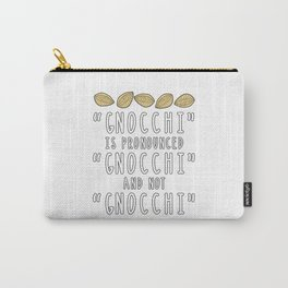 Funny Gnocchi Italian Pasta Foodie Gift For Chefs Carry-All Pouch