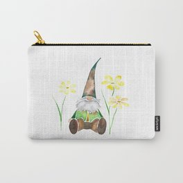 Gnome & Flowers Carry-All Pouch