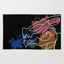 Black Dragon Art Rug