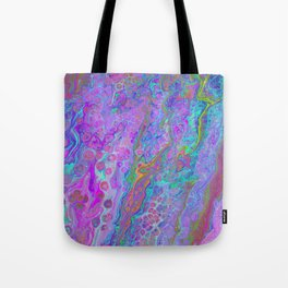 Pink Turquoise Pour Tote Bag