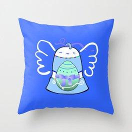 Blue Bell on Blue Throw Pillow