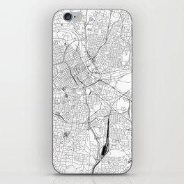 Nashville White Map iPhone Skin
