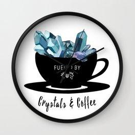 Crystals & Coffee Wall Clock