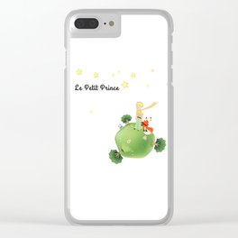 The Little Prince, with the fox and planet Clear iPhone Case