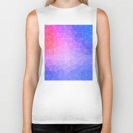 Abstract Colorful Flashy Geometric Triangulate Design Biker Tank