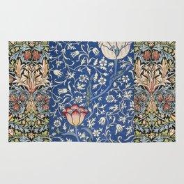 William Morris Victorian blue flowers Rug