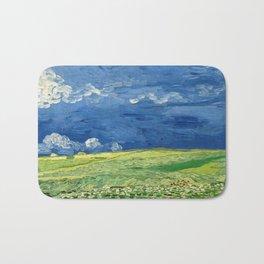 Wheatfield Under Thunderclouds by Vincent van Gogh (1890) Bath Mat