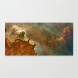 Carina Nebula Details -  Great Clouds Canvas Print