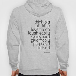 Think and talk Hoody
