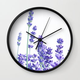 Fresh Lavender #1 #decor #art #society6 Wall Clock