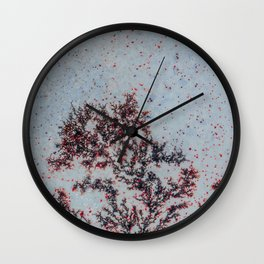 Sakura Moss Agate Wall Clock