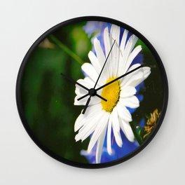 White Daisy Flower Loves Me Loves Me Not Wall Clock