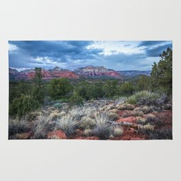 Sedona - Cool Vibes in the Desert Landscape in Northern Arizona Rug
