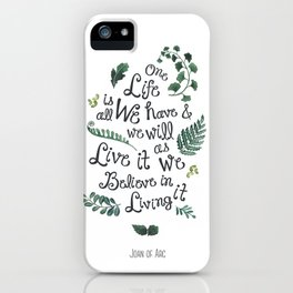 life is wonderful watercolor quote  iPhone Case