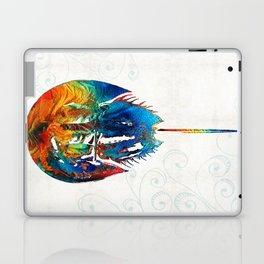 Colorful Horseshoe Crab Art by Sharon Cummings Laptop & iPad Skin