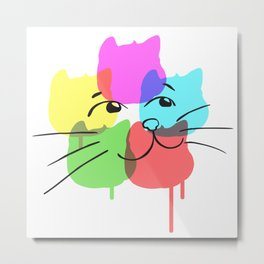 Krylon Kitty Metal Print