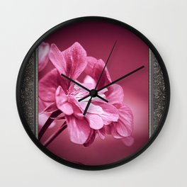 Ivy Geranium named Contessa Purple Bicolor Wall Clock