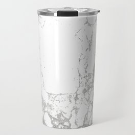 Gray white abstract modern marble pattern Travel Mug