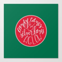 Candy Canes and Silver Lanes Canvas Print