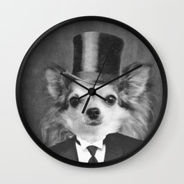 Lola in Top Hat Wall Clock