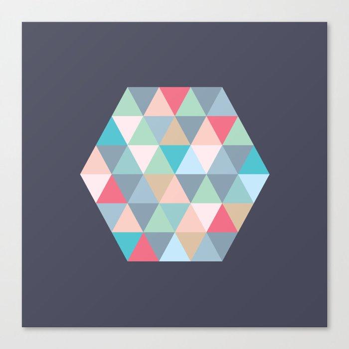 hexagon Canvas Print